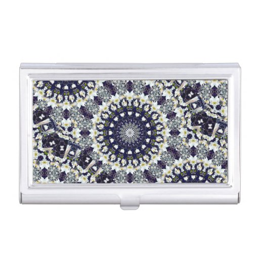 Blue and White Mandala Business Card Case