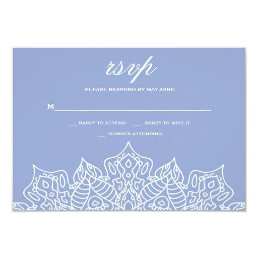 Blue and White Mandala RSVP Cards