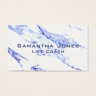 Professional Business Blue and White Marble Business Card