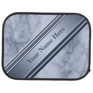 Blue and White Marble Car Mat