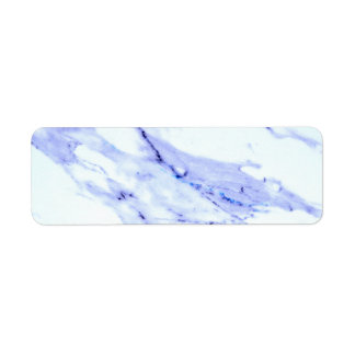 Blue and White Marble Label