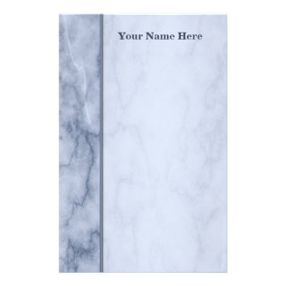 Blue and White Marble Stationery