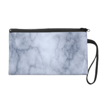 Blue and White Marble Wristlet Purse