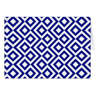 Blue and White Meander Greeting Card