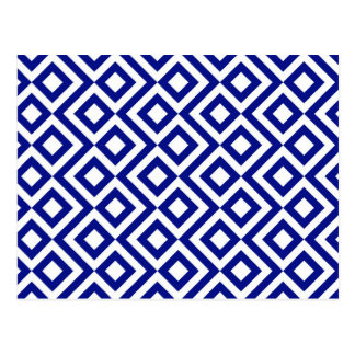 Blue and White Meander Postcards