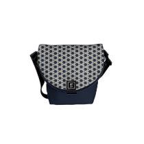 Blue and White Mini Messenger Bag