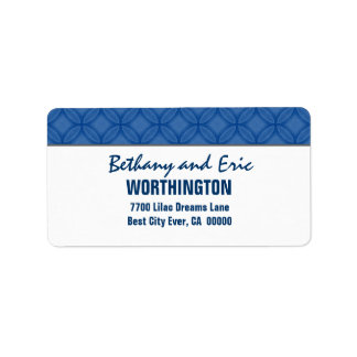 Blue and White Modern Simple A300 Address Label