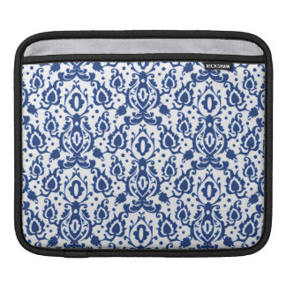 Blue and White Moroccan Casbah Damask iPad Sleeve