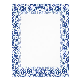Blue and White Moroccan Casbah Damask Letterhead