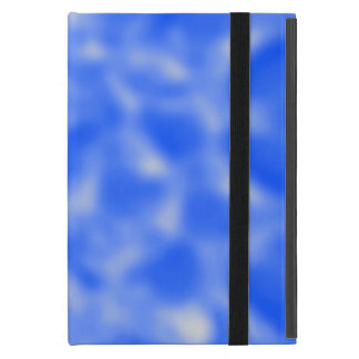 Blue and White Mottled Cover For iPad Mini
