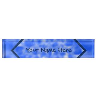 Blue and White Mottled Desk Name Plate