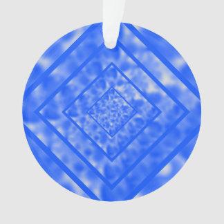 Blue and White Mottled Diamond
