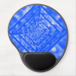 Blue and White Mottled Diamond Gel Mouse Mat