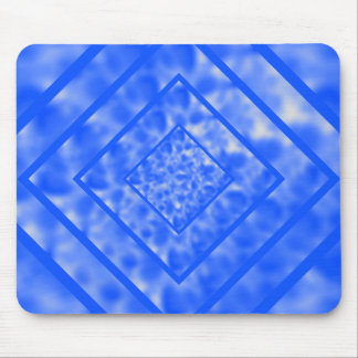 Blue and White Mottled Diamond Mouse Pad