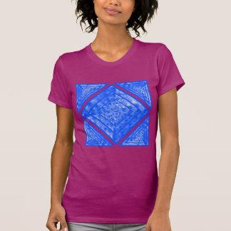 Blue and White Mottled Diamond T-shirt