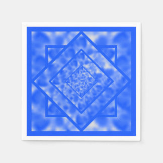 Blue and White Mottled Diamond Disposable Napkin