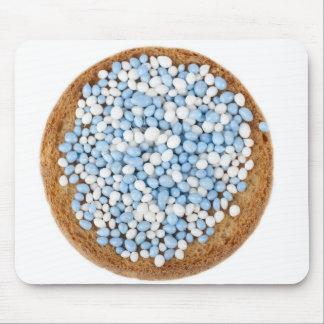 Blue and White Muisjes Mousepad