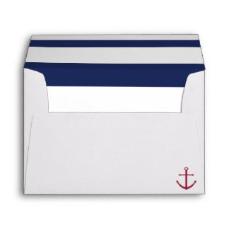 Blue and White Nautical Baby Shower Envelope