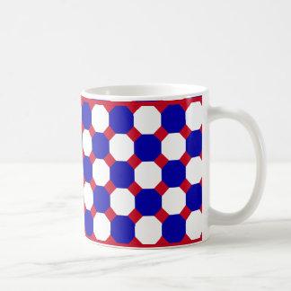 Blue and White Octagon Mug