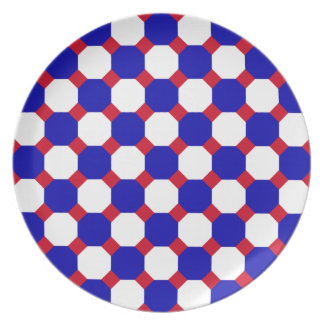 Blue and White Octagon Plate