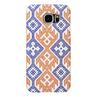 Blue and White Orange Textile Team Sports Colors Samsung Galaxy S6 Case