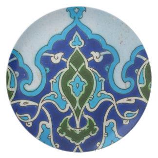 Blue and white Ottoman era tile design Plates
