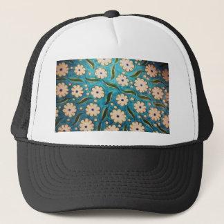 blue and white Ottoman iznik flower tile Trucker Hat