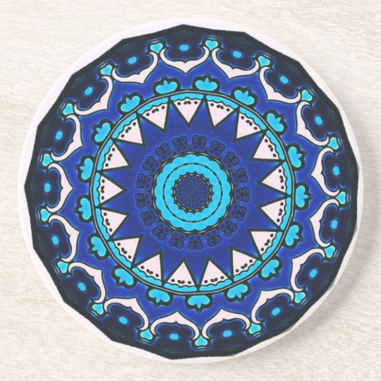 BLUE AND WHITE Ottoman TILE DESIGN STAR Coaster