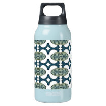 Blue And White Pattern Insulated Water Bottle