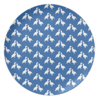 Blue and White Pattern of Birds. Plate