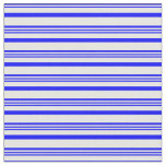 [ Thumbnail: Blue and White Pattern of Stripes Fabric ]