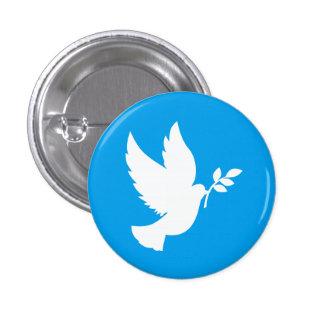 Blue and White Peace Dove Pinback Button