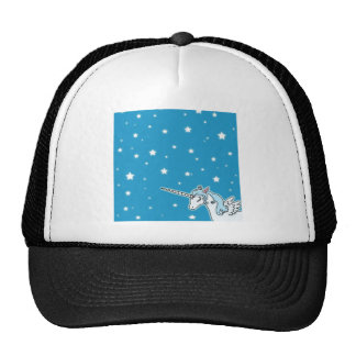 Blue and white Pegasus Unicorn Mesh Hat