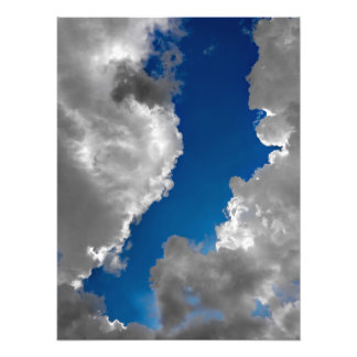 Blue and White Photo Art