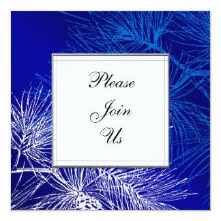 Blue and White Pine Custom Invitation Template
