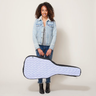 Blue and White Pinstripe Guitar Case