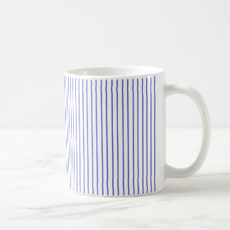 Blue and White Pinstripe Mug