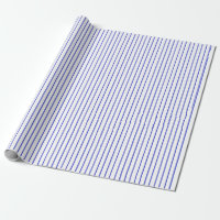 Blue and White Pinstripe Wrapping Paper