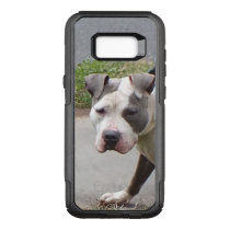 Blue and White Pit Bull Dog OtterBox Commuter Samsung Galaxy S8  Case