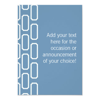 Blue and White Plaque Design Stationery Personalized Announcement