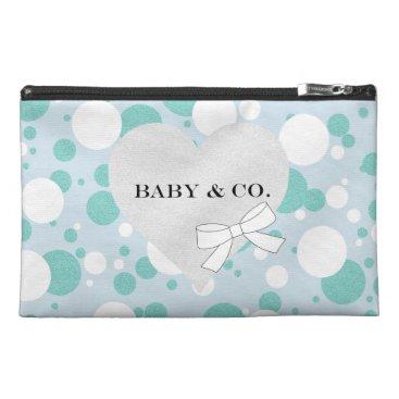 McTiffany Tiffany Aqua Blue and White Polka Dot Baby Party Accessory Bag