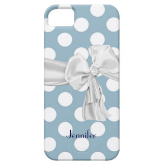 Blue and White Polka Dot iPhone 5 Case