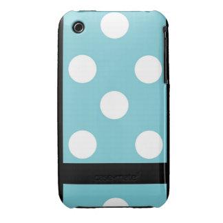 Blue and White Polka-Dot iPod Case