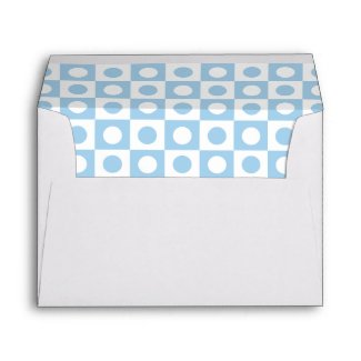 Blue and White Polka Dot Lined Envelope envelope