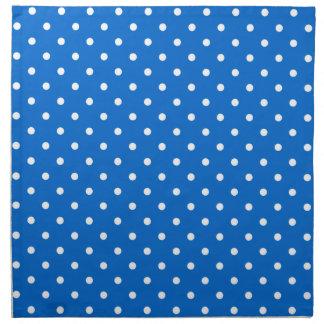 Blue and white polka dot pattern napkin set