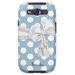 Blue and White Polka Dot Samsung Galaxy Case Galaxy S3 Cases