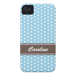 Blue and white polka dots BlackBerry Bold case