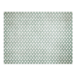 Blue and White Polka Dots Faded Postcard
