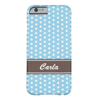 Blue and white polka dots iPhone 6 case