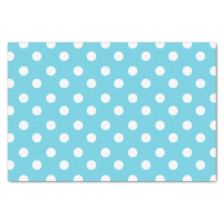 """Blue and White Polka Dots Pattern Gifts 10"""" X 15"""" Tissue Paper"""